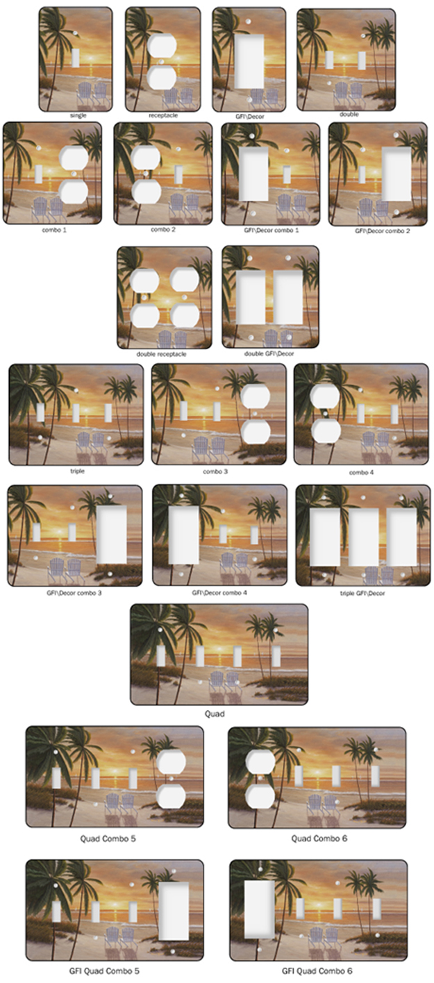 Beach Palm Trees Shop Custom Light Switch Covers Switchplate